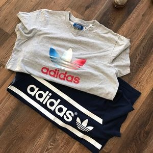 Two adidas Originals t shirts.  Size Large